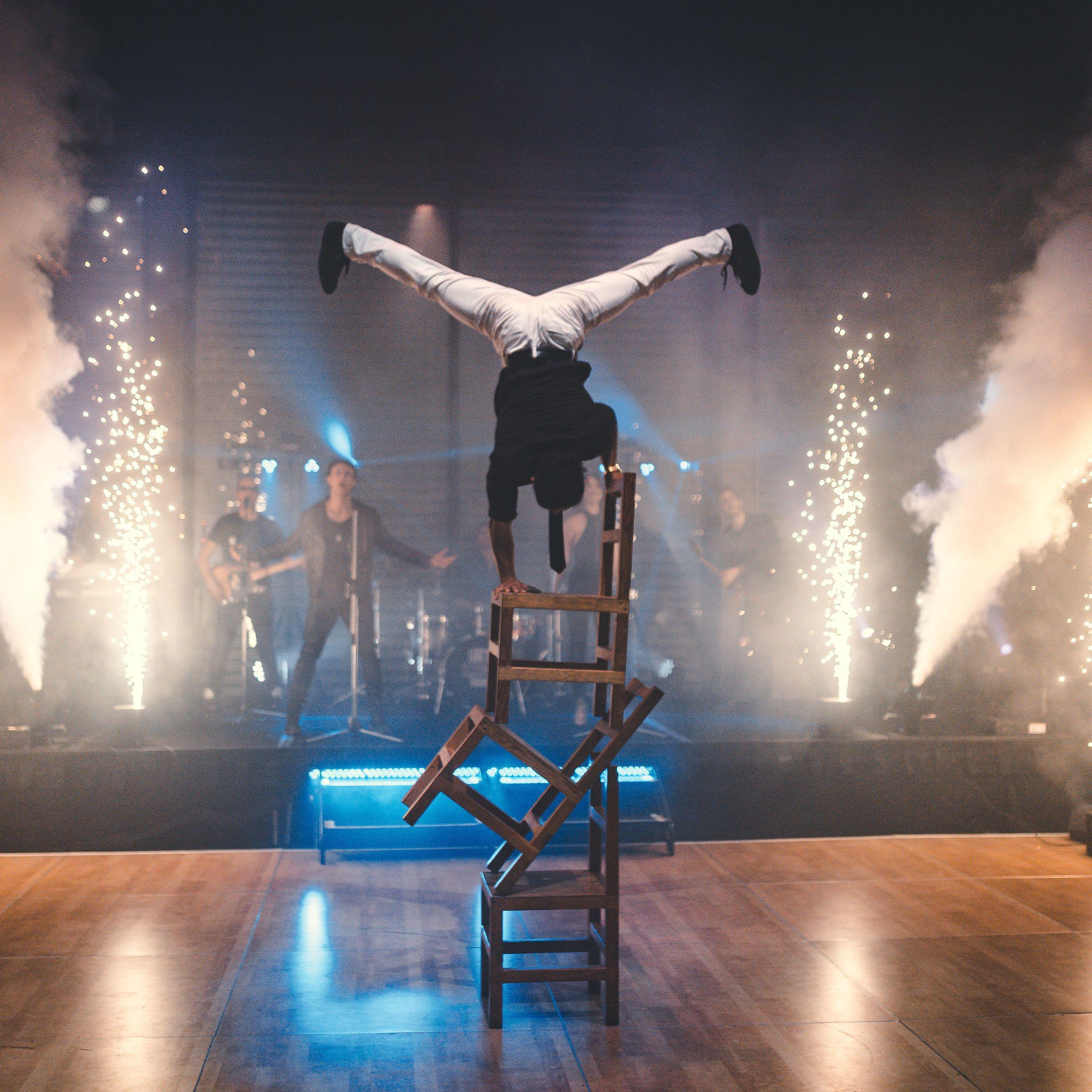 Acrobat Chair Stunts