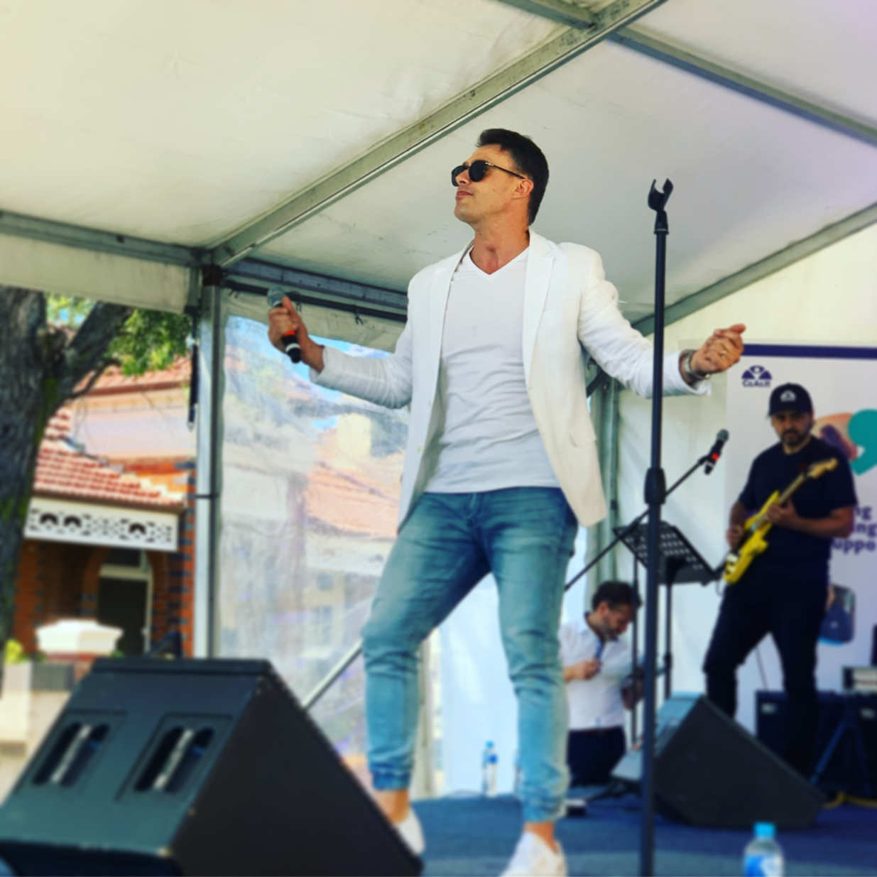 Chris Ninni performing at the Norton Street Italian Festa